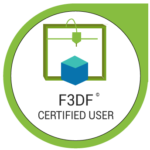 badge certification Impression 3D F3DF